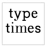 Typeface Type Times